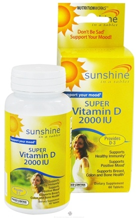 DROPPED: NutritionWorks - Sunshine Super Vitamin D 2000 IU - 60 Tablets