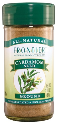 DROPPED: Frontier Natural Products - Cardamom Seed Ground - 2.11 oz. CLEARANCE PRICED