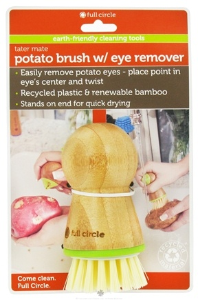DROPPED: Full Circle - Tater Mate Potato Brush with Eye Remover - CLEARANCE PRICED