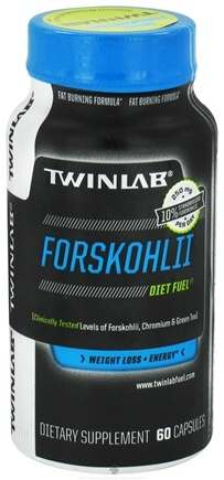DROPPED: Twinlab - Forskohlii Diet Fuel 100mg Caffeine - 60 Capsules CLEARANCE PRICED