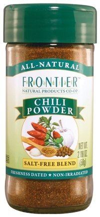 DROPPED: Frontier Natural Products - Chili Powder Salt-Free Blend - 2.08 oz. CLEARANCE PRICED