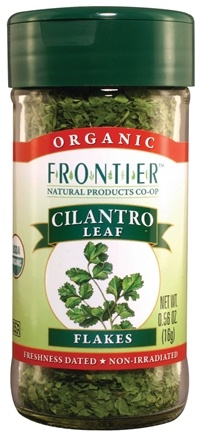 DROPPED: Frontier Natural Products - Cilantro Leaf Flakes Organic - 0.56 oz. CLEARANCE PRICED