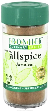 DROPPED: Frontier Natural Products - Allspice Ground - 1.92 oz. CLEARANCE PRICED