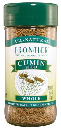 DROPPED: Frontier Natural Products - Cumin Seed Whole - 1.87 oz. CLEARANCE PRICED