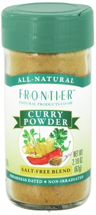 DROPPED: Frontier Natural Products - Curry Powder Salt-Free Blend - 2.19 oz. CLEARANCE PRICED