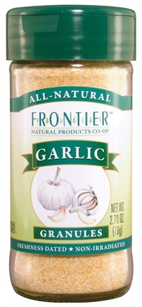 DROPPED: Frontier Natural Products - Garlic Granules - 2.7 oz. CLEARANCE PRICED