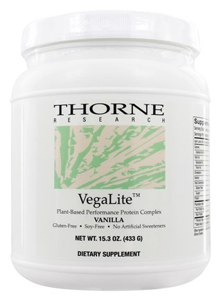 DROPPED: Thorne Research - VegaLite Plant Based Performance Protein Complex Vanilla - 15.2 oz.