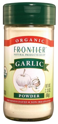 DROPPED: Frontier Natural Products - Garlic Powder Organic - 2.33 oz. CLEARANCE PRICED