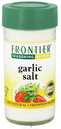 DROPPED: Frontier Natural Products - Garlic Salt Seasoning Blend - 4 oz. CLEARANCE PRICED