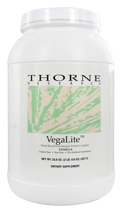 DROPPED: Thorne Research - VegaLite Plant Based Performance Protein Complex Vanilla - 32.6 oz.