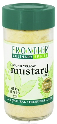 DROPPED: Frontier Natural Products - Mustard Seed Ground - 1.76 oz. CLEARANCE PRICED