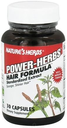 DROPPED: Nature's Herbs - Power-Herbs Hair Formula - 30 Capsules CLEARANCE PRICED