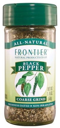 DROPPED: Frontier Natural Products - Black Pepper Coarse Grind - 1.76 oz. CLEARANCE PRICED