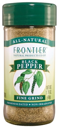 DROPPED: Frontier Natural Products - Black Pepper Fine Grind - 1.76 oz. CLEARANCE PRICED