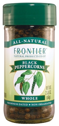 DROPPED: Frontier Natural Products - Black Peppercorns Whole - 2.08 oz. CLEARANCE PRICED