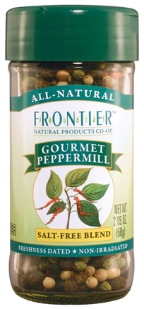 DROPPED: Frontier Natural Products - Peppermill Gourmet Salt-Free Blend - 2.05 oz. CLEARANCE PRICED