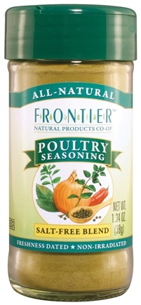 DROPPED: Frontier Natural Products - Poultry Seasoning Salt-Free Blend - 1.34 oz. CLEARANCE PRICED