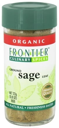 DROPPED: Frontier Natural Products - Sage Leaf Ground Organic - 0.8 oz. CLEARANCE PRICED