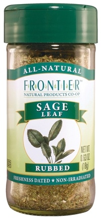 DROPPED: Frontier Natural Products - Sage Leaf Rubbed - 0.4 oz. CLEARANCE PRICED