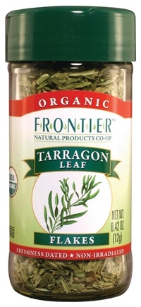 DROPPED: Frontier Natural Products - Tarragon Leaf Flakes Organic - 0.42 oz. CLEARANCE PRICED