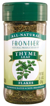 DROPPED: Frontier Natural Products - Thyme Leaf Flakes - 0.85 oz. CLEARANCE PRICED