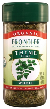 DROPPED: Frontier Natural Products - Thyme Leaf Whole Organic - 0.63 oz. CLEARANCE PRICED