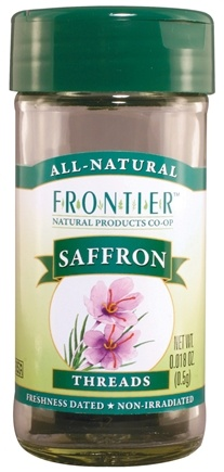 DROPPED: Frontier Natural Products - Saffron Threads - 0.5 Gram(s) CLEARANCE PRICED