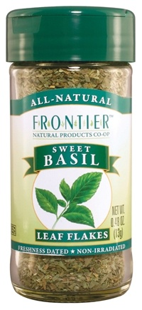 DROPPED: Frontier Natural Products - Basil Leaf Sweet Flakes - 0.48 oz. CLEARANCE PRICED