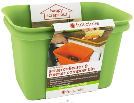 DROPPED: Full Circle - Scrap Happy Scrap Collector & Freezer Compost Bin Green - CLEARANCE PRICED