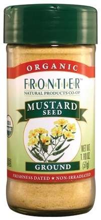 DROPPED: Frontier Natural Products - Mustard Seed Yellow Ground Organic - 1.8 oz.