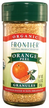 DROPPED: Frontier Natural Products - Orange Peel Granules Organic - 1.92 oz. CLEARANCE PRICED