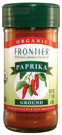 DROPPED: Frontier Natural Products - Paprika Ground Organic - 2.1 oz. CLEARANCE PRICED