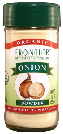 DROPPED: Frontier Natural Products - White Onion Powder Organic - 2.1 oz. CLEARANCE PRICED