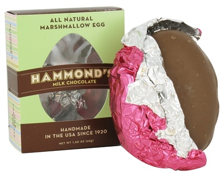 DROPPED: Hammond's Candies - All Natural Marshmallow Easter Egg Milk Chocolate - 1.6 oz.