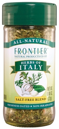 DROPPED: Frontier Natural Products - Herbs of Italy Salt-Free Blend - 0.8 oz. CLEARANCE PRICED