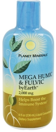 DROPPED: Planet Minerals - byEarth Mega Humic & Fulvic 2000 mg. - 8 oz.