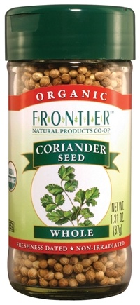 DROPPED: Frontier Natural Products - Coriander Seed Whole Organic - 1.31 oz. CLEARANCE PRICED