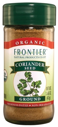 DROPPED: Frontier Natural Products - Coriander Seed Ground Organic - 1.66 oz. CLEARANCE PRICED
