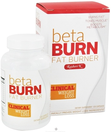 DROPPED: Rightway Nutrition - Beta Burn Fat Burner with Razberi-K Raspberry Ketones - 120 Capsules CLEARANCE PRICED