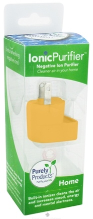 DROPPED: Purely Products - IonicLifestyle Compact Negative Ion Generator Home 110-Volt Yellow