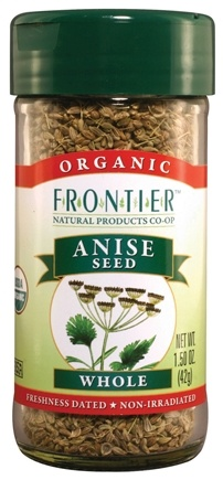 DROPPED: Frontier Natural Products - Anise Seed Whole Organic - 1.5 oz. CLEARANCE PRICED