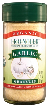 DROPPED: Frontier Natural Products - Garlic Granules Organic - 2.68 oz. CLEARANCE PRICED