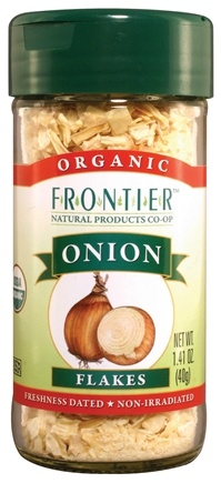DROPPED: Frontier Natural Products - White Onion Flakes Organic - 1.41 oz. CLEARANCE PRICED