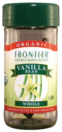 DROPPED: Frontier Natural Products - Vanilla Bean Whole Organic - 1 Bean(s) CLEARANCE PRICED