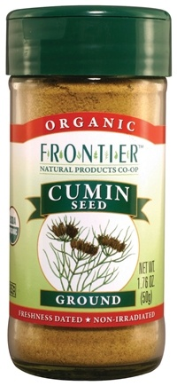 DROPPED: Frontier Natural Products - Cumin Seed Ground Organic - 1.76 oz. CLEARANCE PRICED