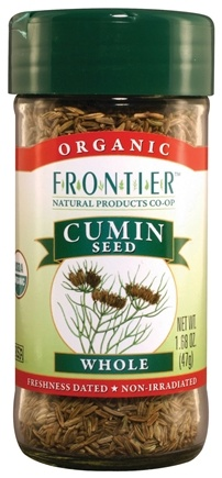 DROPPED: Frontier Natural Products - Cumin Seed Whole Organic - 1.68 oz. CLEARANCE PRICED