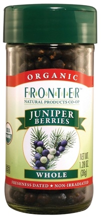 DROPPED: Frontier Natural Products - Juniper Berries Whole Organic - 1.28 oz. CLEARANCE PRICED