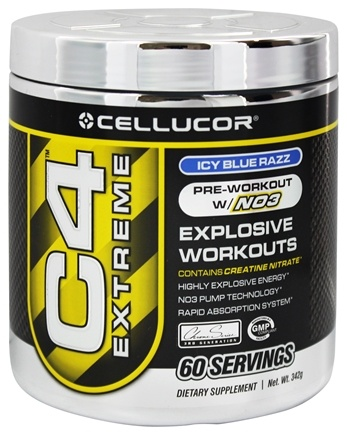 DROPPED: Cellucor - C4 Extreme Pre-Workout with NO3 Icy Blue Raspberry 60 Servings - 360 Grams