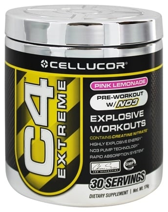 DROPPED: Cellucor - C4 Extreme Pre-Workout with NO3 Pink Lemonade 30 Servings - 180 Grams