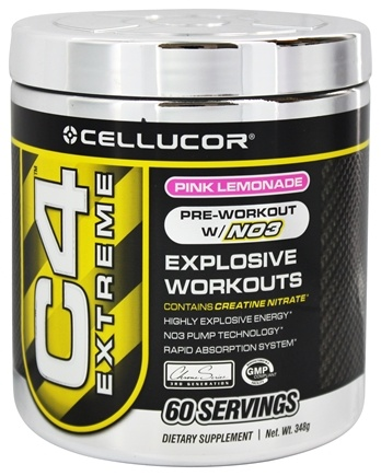 DROPPED: Cellucor - C4 Extreme Pre-Workout with NO3 Pink Lemonade 60 Servings - 360 Grams
